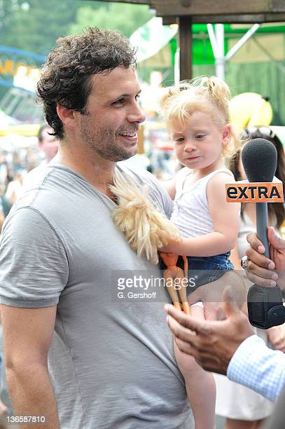 Actor Jeremy Sisto and daughter Charlie Ballerina Sisto attend the 10th Anniversary Baby Buggy Bedtime Bash hosted by Jessica and Jerry Seinfeld at...