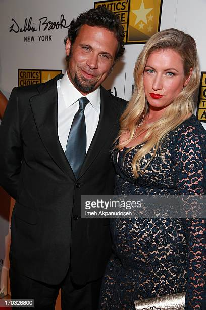 Actor Jeremy Sisto and his wife Addie Lane attend the Critics' Choice Television Awards at The Beverly Hilton Hotel on June 10 2013 in Beverly Hills...