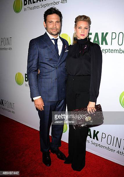 Actor Jeremy Sisto and wife Addie Lane attend a screening of Break Point at TCL Chinese 6 Theatres on August 27 2015 in Hollywood California