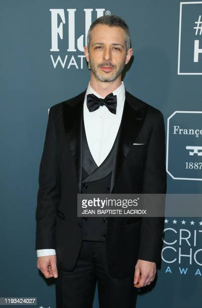 US actor Jeremy Strong arrives for the 25th Annual Critics' Choice Awards at Barker Hangar Santa Monica airport on January 12 2020 in Santa Monica...