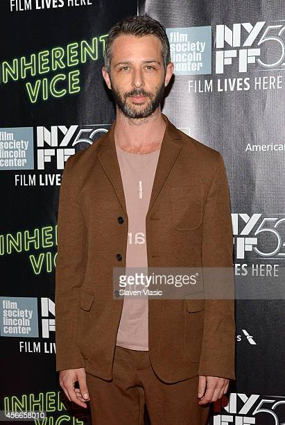 """Actor Jeremy Strong attends the Centerpiece Gala Presentation and World Premiere of """"Inherent Vice"""" during the 52nd New York Film Festival at Alice..."""
