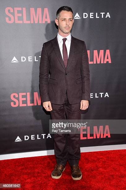Actor Jeremy Strong enters the Selma New York Premiere at the Ziegfeld Theater on December 14 2014 in New York City