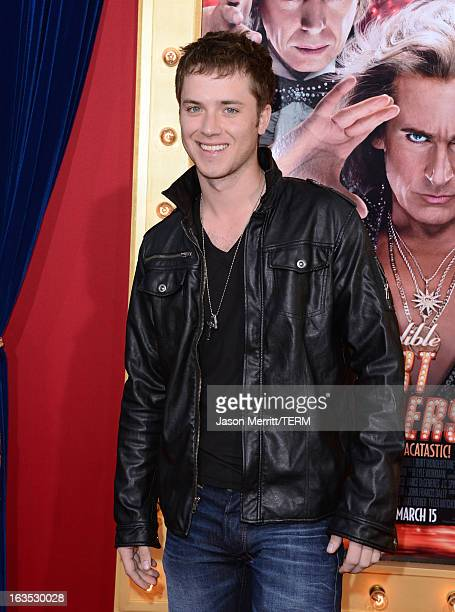 Actor Jeremy Sumpter attends the premiere of Warner Bros Pictures' The Incredible Burt Wonderstone at TCL Chinese Theatre on March 11 2013 in...