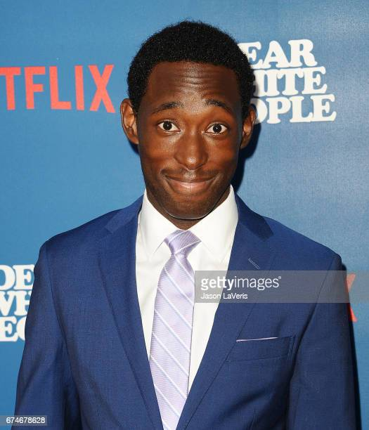 Actor Jeremy Tardy attends the premiere of Dear White People at Downtown Independent on April 27 2017 in Los Angeles California