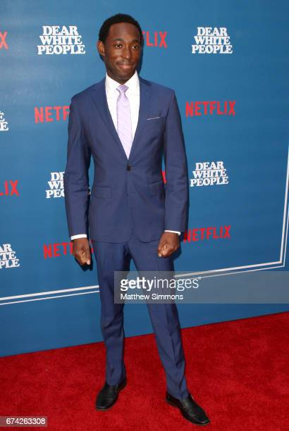 Actor Jeremy Tardy attends the premiere of Netflix's 'Dear White People' at Downtown Independent on April 27 2017 in Los Angeles California