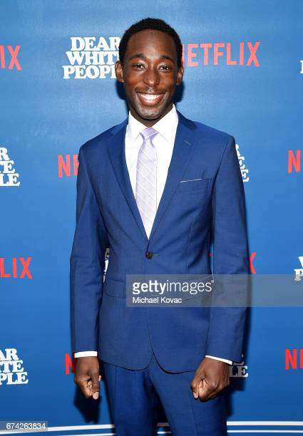 Actor Jeremy Tardy attends the premiere of Netflix's Dear White People at Downtown Independent on April 27 2017 in Los Angeles California