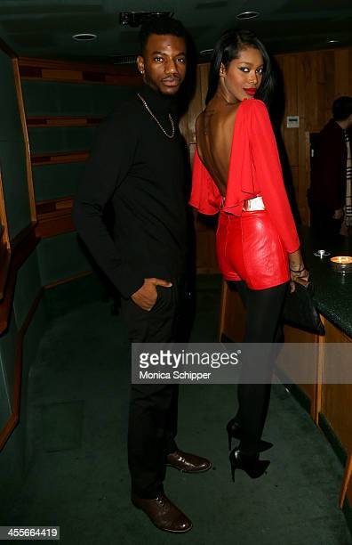 Actor Jermaine Crawford and model Jessica White attend PS Underground NYC with Grammy Artists Helping Hurricane Sandy Relief hosted by Jerry Wonda...