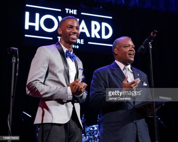 Actor Jermaine Crawford and Prince George's County Executive Rushern Baker attend the 2013 HOPE Inaugural Youth Ball at the Howard Theatre on January...