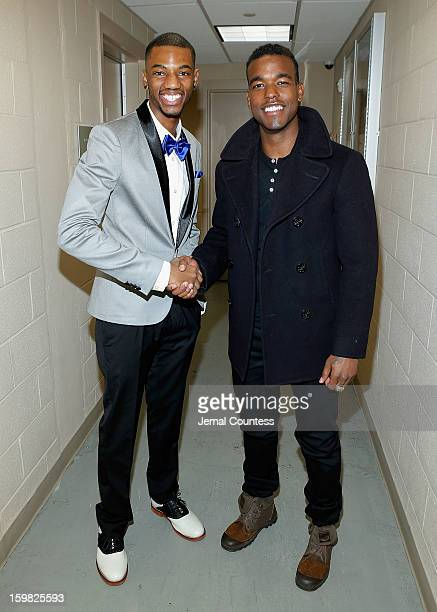 Actor Jermaine Crawford and Singer Luke James attend the 2013 HOPE Inaugural Youth Ball at the Howard Theatre on January 20 2013 in Washington DC