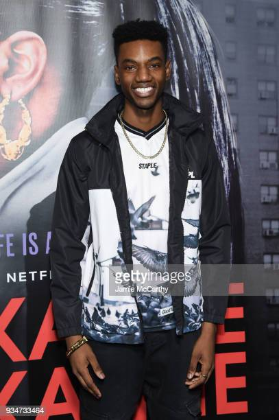Actor Jermaine Crawford attends a special screening of the Netflix film Roxanne Roxanne at the SVA Theater on March 19 2018 in New York City