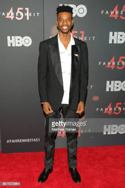 Actor Jermaine Crawford attends the Fahrenheit 451 New York Premiere at NYU Skirball Center on May 8 2018 in New York City