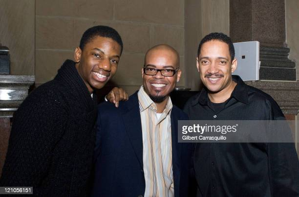 Actor Jermaine Crawford Guest Actor Christopher Mann attend The Screening of the SeasonFinale of the HBO Original Series The Wire Hosted by...