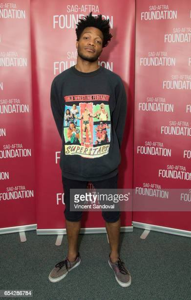 Actor Jermaine Fowler attends SAGAFTRA Foundation's Conversations with Superior Donuts at SAGAFTRA Foundation Screening Room on March 16 2017 in Los...