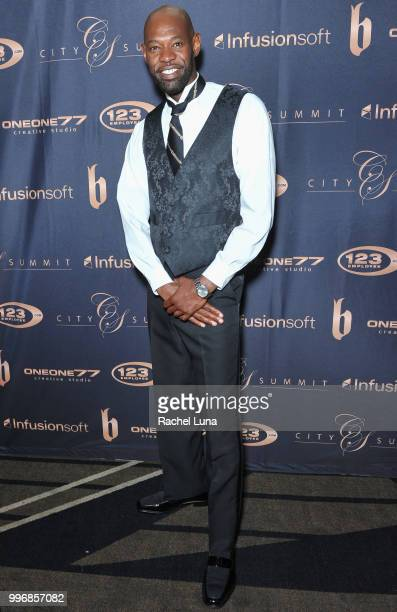 Actor Jermaine Jackson attends City Summit Wealth Mastery And Mindset Edition afterparty at Allure Banquet Catering on July 11 2018 in Van Nuys...