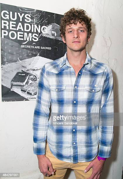 Actor Jerod Meagher attends the Guys Reading Poems fundraiser at V Wine Bar on April 11 2014 in West Hollywood California