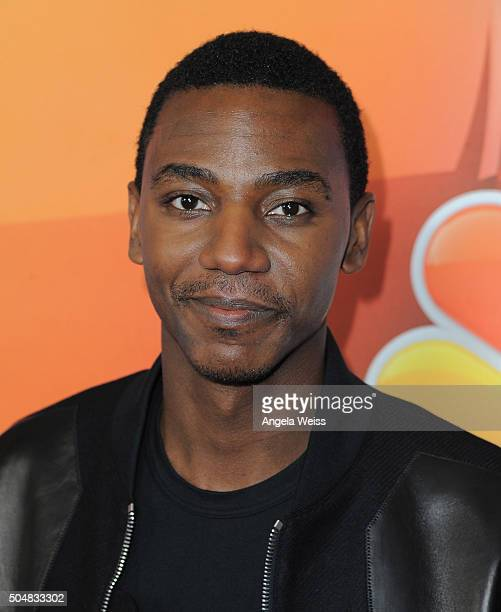 Actor Jerrod Carmichael arrives at the 2016 Winter TCA Tour NBCUniversal Press Tour at Langham Hotel on January 13 2016 in Pasadena California
