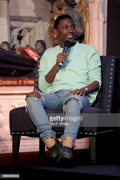 Actor Jerrod Carmichael attends a fan event for Transformers The Last Knight at St Barts the Great on June 16 2017 in London England