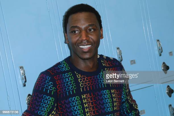 Actor Jerrod Carmichael attends the Screening Of A24's 'Eighth Grade' Arrivals at Le Conte Middle School on July 11 2018 in Los Angeles California