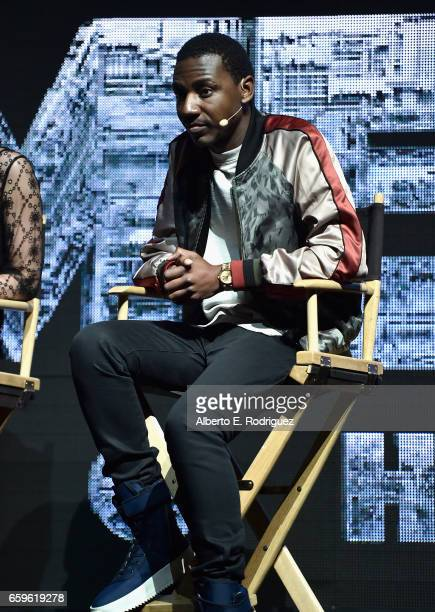 Actor Jerrod Carmichael speaks onstage at CinemaCon 2017 Paramount Pictures Presentation Highlighting Its Summer of 2017 and Beyond at The Colosseum...