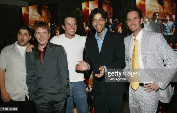 Actor Jerry Ferrara actor Kevin Connolly executive producer Mark Wahlberg actor Adrian Grenier and actor Kevin Dillon attend a premiere screening of...