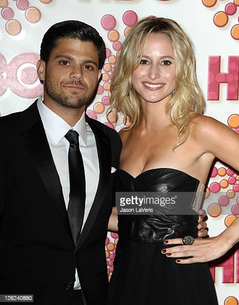 Actor Jerry Ferrara and actress Alexandra Blodgett attend HBO's post Emmy party at Pacific Design Center on September 18 2011 in West Hollywood...
