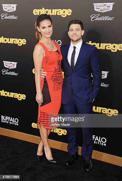 Actor Jerry Ferrara and actress Breanne Racano arrive at the 'Entourage' Los Angeles premiere at Regency Village Theatre on June 1 2015 in Westwood...