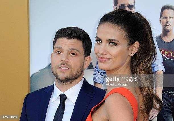 Actor Jerry Ferrara and actress Breanne Racano arrive for the Premiere Of Warner Bros Pictures' Entourage held at Regency Village Theatre on June 1...