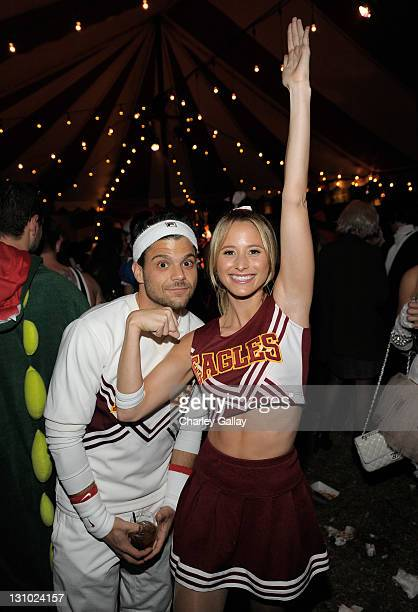 Actor Jerry Ferrara and Alexandra Blodgett attend Bacardi and Maroon 5's Annual Halloween Bash held at Hollywood Forever Cemetary on October 31 2011...
