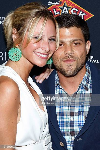 Actor Jerry Ferrara and Alexandra Blodgett attend the 4th Annual Sunset Strip Music Festival Get Stripped After Party on August 19 2011 in West...