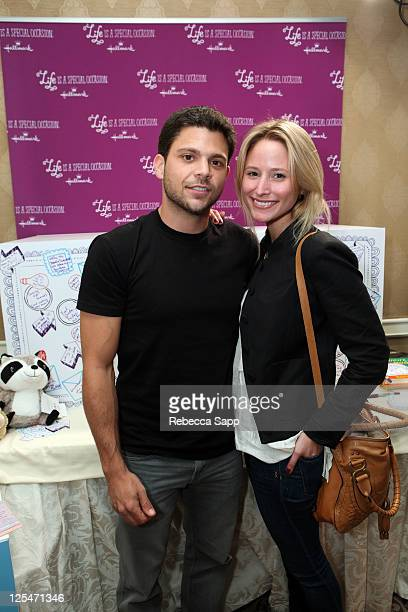 Actor Jerry Ferrara and Alexandra Blodgett attend the HBO Luxury Lounge in honor of the 63rd Primetime Emmy Awards held at The Four Seasons Hotel on...