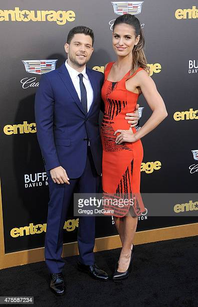 Actor Jerry Ferrara and Breanne Racano arrive at the Los Angeles premiere of Entourage at Regency Village Theatre on June 1 2015 in Westwood...