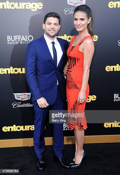 Actor Jerry Ferrara and Breanne Racano arrive at Warner Bros Pictures Premiere of 'Entourage' at Regency Village Theatre on June 1 2015 in Westwood...