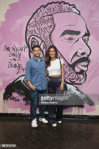Actor Jerry Ferrara and Breanne Racano attend the performance HerO A Work in Progress with Omari Hardwick at The Billie Holiday Theater on June 29...