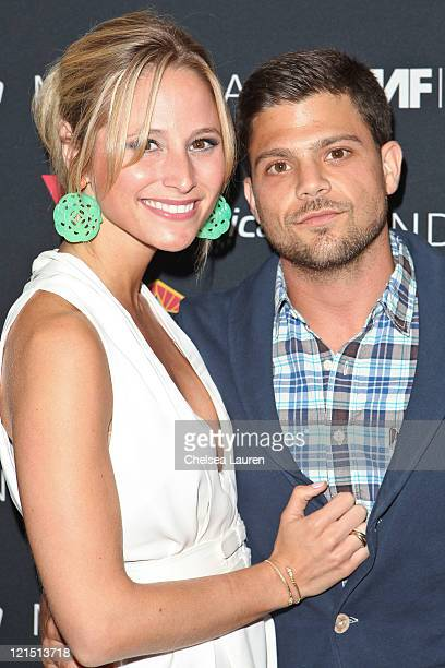 Actor Jerry Ferrara and girlfriend Alexandra Blodgett arrive at the 2011 Sunset Strip Music Festival Virgin America and Black Star Beer Official VIP...