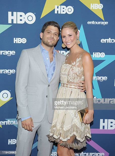 Actor Jerry Ferrara and girlfriend Alexandra Blodgett attend the Entourage Season 8 premiere at the Beacon Theatre on July 19 2011 in New York City