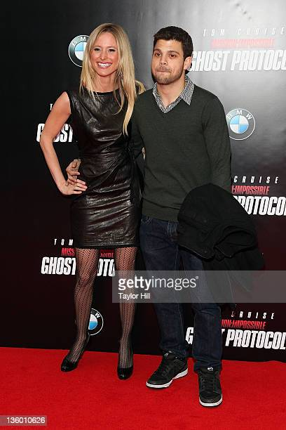 Actor Jerry Ferrara and girlfriend Alexandra Blodgett attend the 'Mission Impossible Ghost Protocol' US premiere at the Ziegfeld Theatre on December...