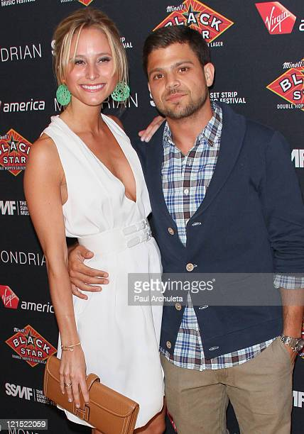 Actor Jerry Ferrara and his girlfriend Alexandra Blodgett arrive at the 2011 Sunset Strip Music Festival official VIP party at SkyBar at the Mondrian...