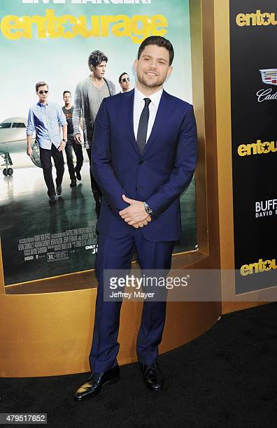 Actor Jerry Ferrara arrives at the 'Entourage' Los Angeles premiere at Regency Village Theatre on June 1 2015 in Westwood California