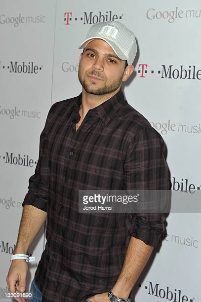 Actor Jerry Ferrara arrives on the TMobile magenta carpet for the launch of Google Music hosted by TMobile at Mr Brainwash Studio on November 16 2011...