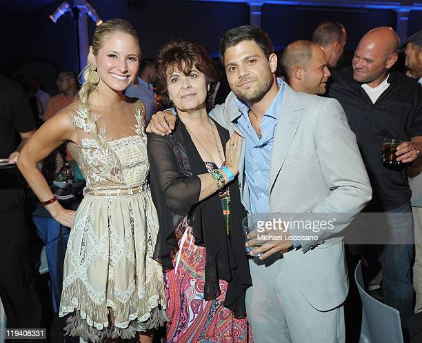 Actor Jerry Ferrara girlfriend Alexandra Blodgett and mother Mariana Lautato attend the Entourage Season 8 premiere after party at the American...
