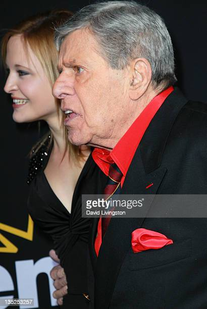 Actor Jerry Lewis and daughter Danielle Sarah Lewis attend the premiere of Encore's Method to the Madness of Jerry Lewis at Paramount Theater on the...