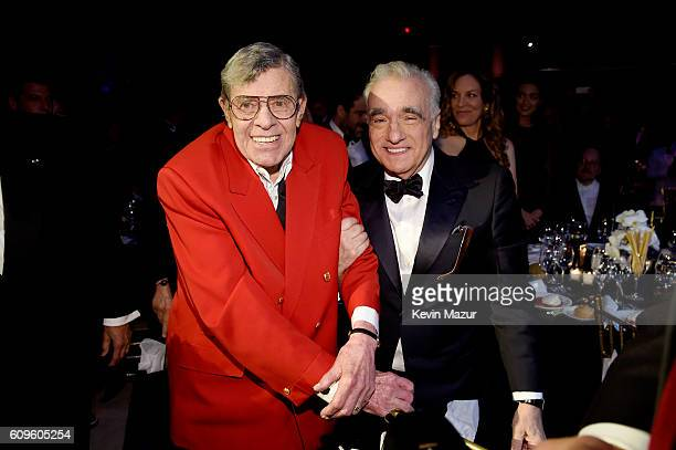 Actor Jerry Lewis and Director Martin Scorsese attend the Friars Club Honoring Martin Scorsese With Entertainment Icon Award at Cipriani Wall Street...