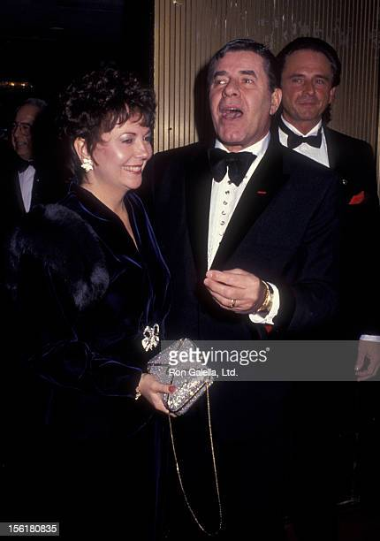 Actor Jerry Lewis and wife Sandee Lewis attend Seventh Annual Martin Luther King Jr Ambassador Awards on January 21 1991 at the Sheridan Center in...