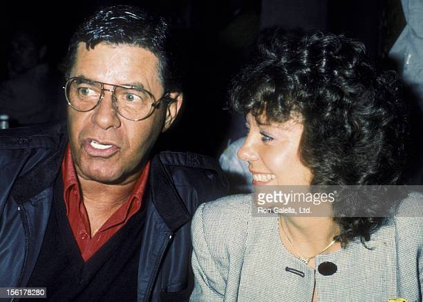 Actor Jerry Lewis and wife Sandee Lewis sighted on June 6 1986 at the Carnegie Deli in New York City