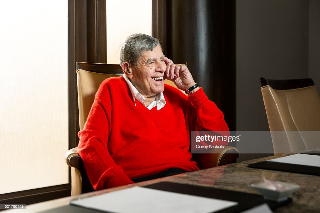 Actor Jerry Lewis is photographed for New York Observer on August 22, 2016 in Beverly Hills, California.