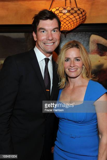 Actor Jerry O'Connell and actress Elisabeth Shue poses at the premiere after party of The Weinstein Company 'Piranha 3D' at Bardot on August 18 2010...