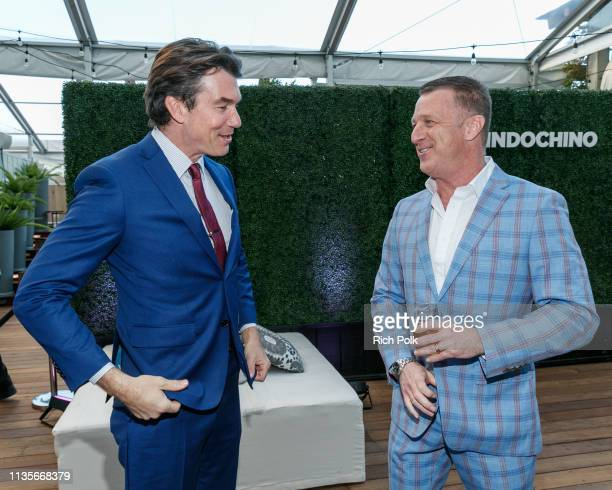 Actor Jerry O'Connell and Peter Housley attend Indochino Los Angeles Spring/Summer '19 Launch Party at SkyBar at the Mondrian Los Angeles on March 13...