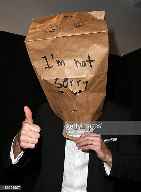 Actor Jerry O'Connell appears at his spoof installation #IAmSorryToo imitating Shia LaBeouf's #IAmSorry art installation on February 12 2014 in Los...