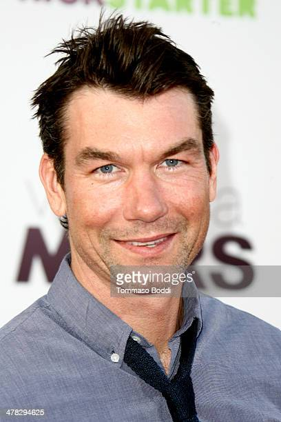 Actor Jerry O'Connell attends the 'Veronica Mars' Los Angeles premiere held at the TCL Chinese Theatre on March 12 2014 in Hollywood California