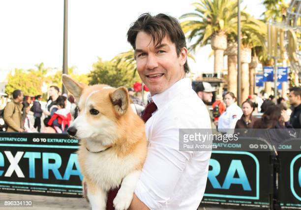 Actor Jerry O'Connell visits Extra at Universal Studios Hollywood on December 20 2017 in Universal City California